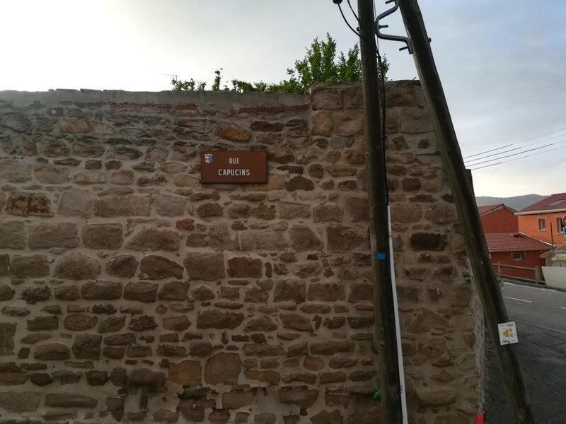 rue des Capucins, plaque