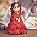 Statuette aux roses!