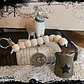 chapelet de perles en bois et clochette de Pâques