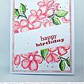 Carte happy birthday par christelle