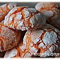 Biscuits craquelés à l'orange ou orange crinckles