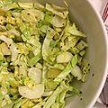 Salade de chou pointu, chou rave et graines de fenouil