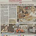 Troisième rencontre de Dentellières à Upaix : Article dans la presse ce jour