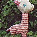 Catégorie 13 /Girafe doudou (T)