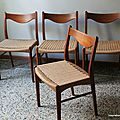 Lot 4 chaises danoises 60's
