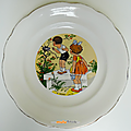 Collection ... Assiettes parlantes SCENES d'ENFANTS * Digoin <b>Sarreguemines</b>