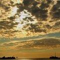 Fin de journée ( port du havre )