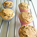 Muffins au beurre de cacahouete et pepites de chocolat