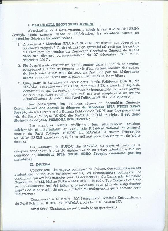 PROCES VERBAL DE BDM KINSHASA SUR LE CAS DE SITA NSONI ZENO b