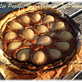 Tarte amandine poires et chocolat