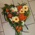 Coeur de deuil structuré orange