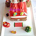 <b>Gâteau</b> Père <b>Noel</b> et son renne