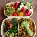 poulet poêlé au <b>mirin</b> et brunoise de légumes