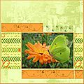 Digiscrap : papillon citron