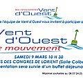 9 mars, palais des congrès de lorient, lancement de