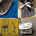 Recycler un sac: un collier, une pochette, une banette