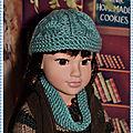 Un bonnet et un snood pour callie - winter hat and a snood scarf for callie