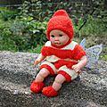 Bleu tuto # 08 : un costume d'abeille pour un poupon