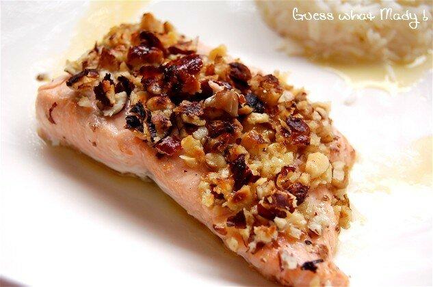 Saumon aux noix et noisettes