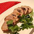 Filet de porc farci aux champignons, sans gluten