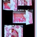 Une boîte papillon coeur.....rose et gris perle