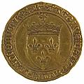 Charles VIII (1483-1498). <b>Ecu</b> <b>d</b>'<b>or</b> au soleil
