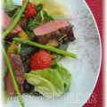 Filet d'agneau sur salade estivale