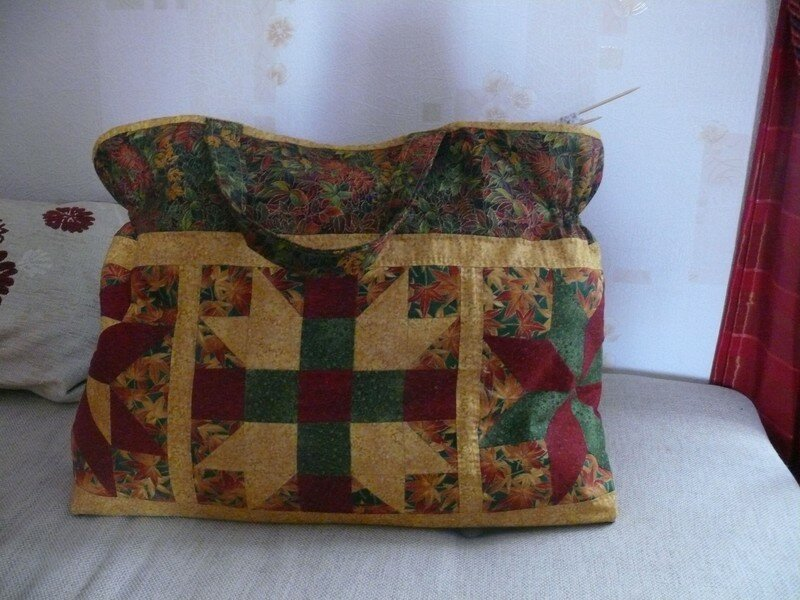 sac patchwork red