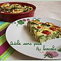 Quiche sans pâte au brocolis weight watchers