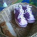 Des petites baskets pour une futur petite merveille...