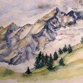 Vers le tunnel du Mont Blanc