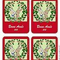 Cartes de voeux lapins 2012 à imprimer