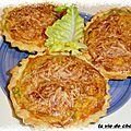 Tartelettes salees epinards-thon