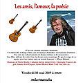 Récital Guy Allix <b>chansons</b> <b>à</b> <b>textes</b> et poésie le 10 mai 2019 Atelier Matreselva Paris