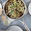 <b>Spaghetti</b> aux Vongole (et gambas)
