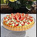 Tarte renversée fraise / pistache