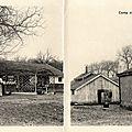Camp de Satory, Versailles, Album carte-lettre militaire du 43e RAC, Cantine, Stand de tir