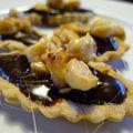 Tarte chocolat caramel, noisettes et bananes caramélisées