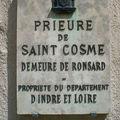 Le prieuré de saint cosme à tours