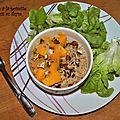 Porridge salé à la noisette et butternut au thym