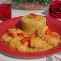 Poulet asiatique au curry, lait de coco, ananas et poivron : une des meilleures recettes asiatique de poulet aigre-doux !