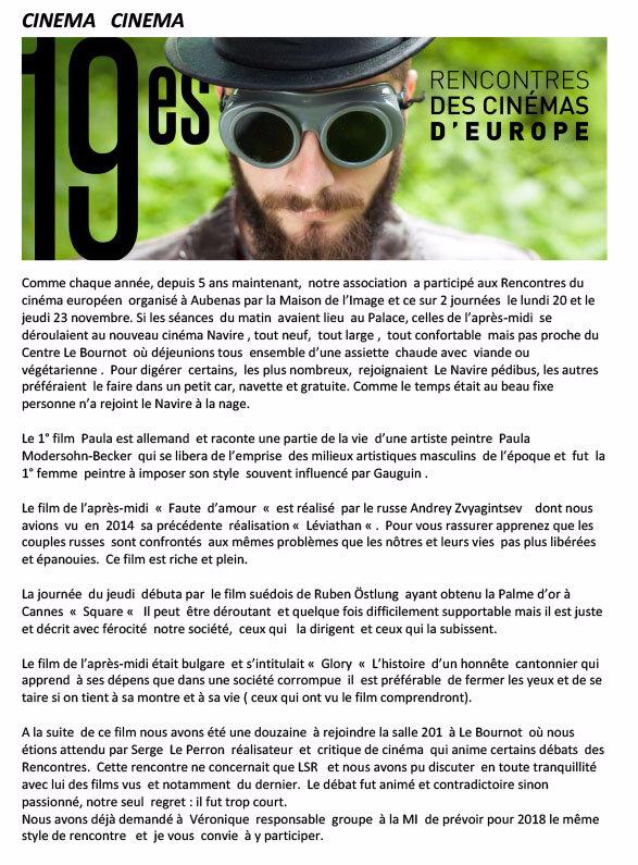 Les férus de cinéma aux 19èmes rencontres du cinéma à Aubenas