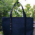 sac à paillettes noir 032
