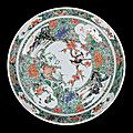 Two large chinese porcelain `famille-verte' chargers from the collection of augustus the strong @ gibson antiques