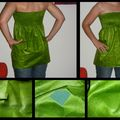 2009-08 Tunique smocks verte