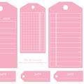 Etiquettes gratuites à télécharger et à imprimer pour le scrapbooking : tags roses