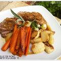 Rouelle de porc au cidre et à la sauge et ses légumes croquants