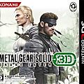 Jaquette Jap pour MGS Snake Eater 3DS