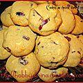 Cookies au chocolat blanc et aux cranberries / печенье с белым шоколадом и вяленой клюквой