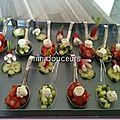 Cuillère tomate/ concombre/ boursin